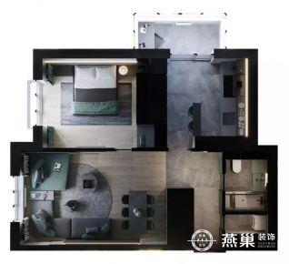 贛州現代簡約風格小戶型單身公寓裝修案例