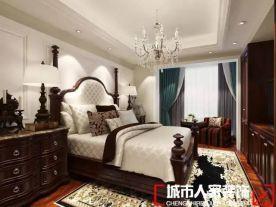 青島金地悅峰三居室復古美式裝修效果圖
