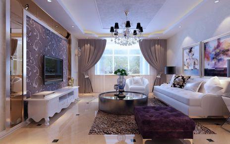 天津市金隅滿堂三室簡歐風裝修設計,享受生活輕奢新主義