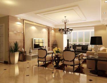 天津市海逸長洲新古典風三室裝修設計