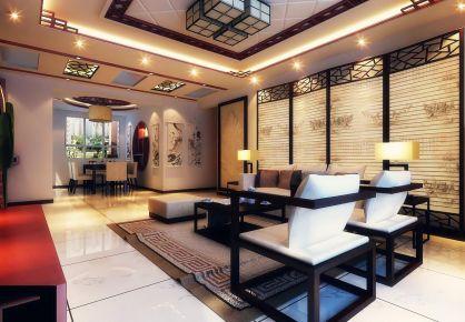 天津市金地藝境復古而優雅的新中式風格三居裝修案例