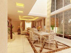 天津市朗润园别墅奢华欧式风格装修设计