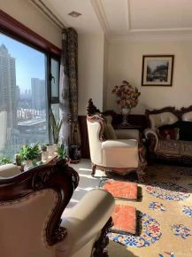 西宁浪漫古典新中式风格两室装修效果图展示