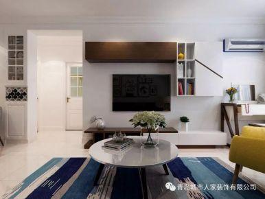 青島水清花都現代簡約風格二居室裝修效果圖