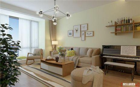 青島中城嘉匯北歐風格二居室裝修案例圖
