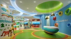 杭州亲子游泳馆创意混搭风商铺装修案例效果图