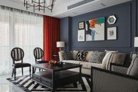 广州美式风三居室装修效果图,一个有情调又舒适的家!