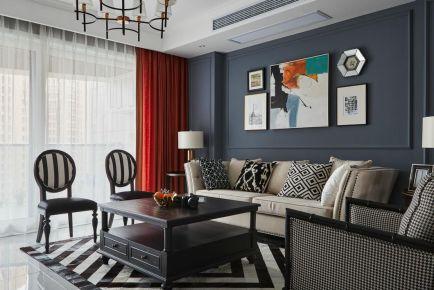 廣州美式風三居室裝修效果圖,一個有情調又舒適的家!