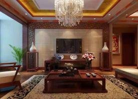 西宁庄重典雅中式风格四居装修效果图展示