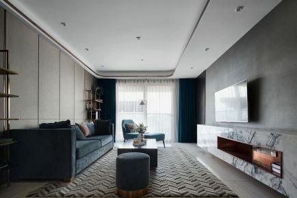 廣州新塘輕奢現代風三居室裝修效果圖