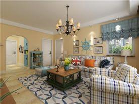青岛印象湾地中海风格三居室装修效果图