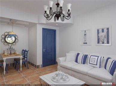 青島科大人才公寓地中海二居室裝修效果圖
