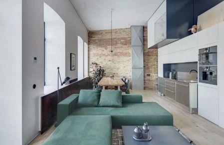 東莞現代工業風格三居室裝修效果圖,展現不一樣的獨特魅力