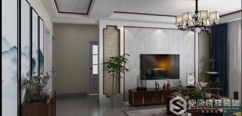 徐州古典新中式風三居裝修效果圖展示