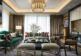 成都拉菲庄园欧式复古风格装修效果图,风格独特有质感!