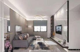 东莞现代简约三居室装修效果图展示