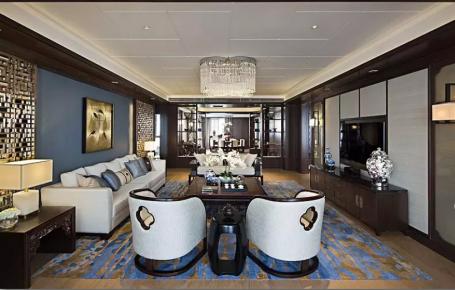 成都卡地亞黑鉆現代三居裝修,質感和時尚并存