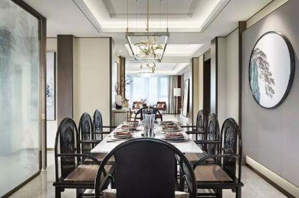 東莞簡約雅致新中式三室裝修效果圖案例展示