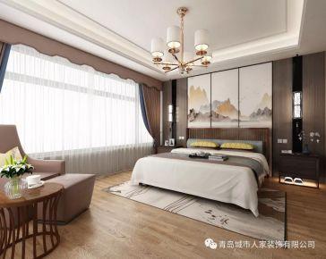 青島綠城海棠印月雅致新中式別墅裝修效果圖