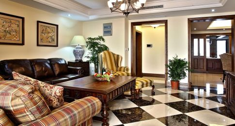 南京美式風格三居裝修,復古氣息彌漫整個空間!