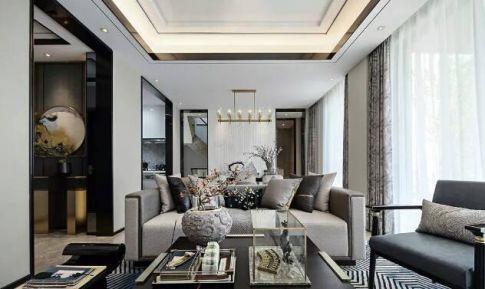东莞现代与中式结合三居室装修,东方美学新高度