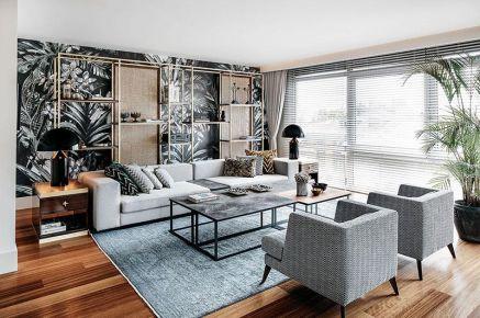 福州现代风格复式装修,繁华都市人的舒适回归