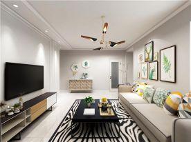 青岛万达39克拉北欧风格二居室装修效果图,把生活过成了一种艺术
