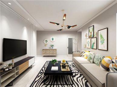 青島萬達39克拉北歐風格二居室裝修效果圖,把生活過成了一種藝術