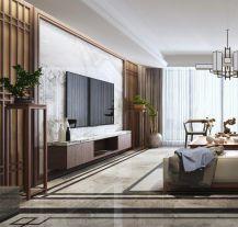 太原120平中式风格三居室装修,尽显大气之美