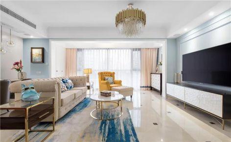 太原140平輕奢美式風三室裝修,淡雅中藏著精致和大氣