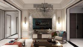 黔南大气轻奢雅致新中式风格四居室装修效果图