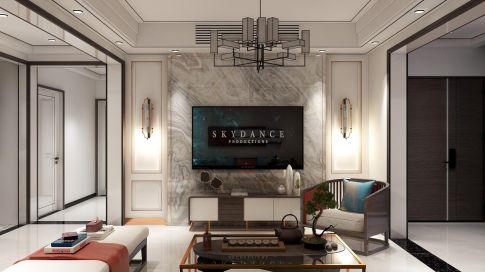黔南大氣輕奢雅致新中式風格四居室裝修效果圖