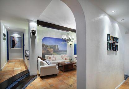 太原88㎡地中海风格两室装修,倾听海浪的声音