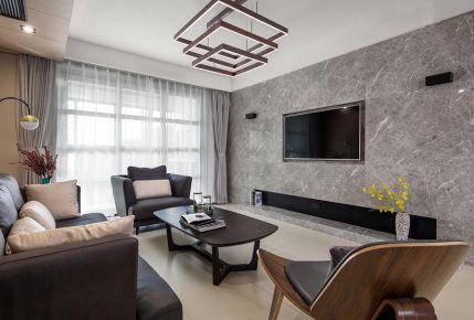 太原143平米现代风格三居室装修案例效果图