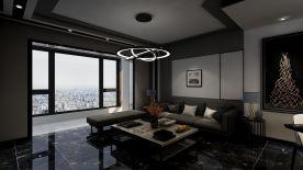 黔南现代简约风格三居室装修案例效果图