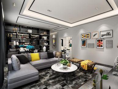 深圳时尚简约风格三居装修,黑色元素的装饰,很具时尚感!