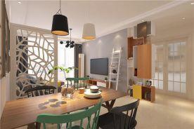 青岛凤凰城大气时尚后现代三居室装修效果图