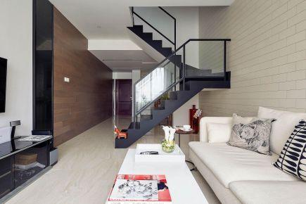 福州簡約復式二居裝修案例效果圖展示