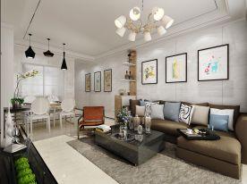 深圳现代简约风格二居装修,质感和时尚并存