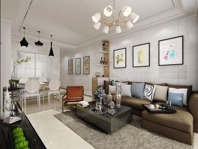 深圳現代簡約風格二居裝修,質感和時尚并存