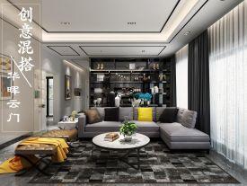 深圳创意混搭二居装修,时尚前卫、简约高级居住空间!