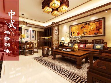 深圳清雅含蓄、端莊豐華的中式風格二居裝修案例