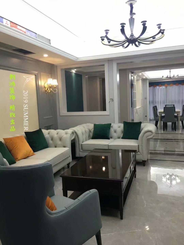 杭州简约美式风格三居室装修案例效果图展示