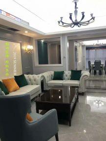 杭州簡約美式風格三居室裝修案例效果圖展示