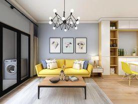 深圳舒適簡約風格二居室裝修案例
