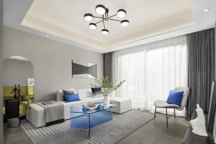 太原现代风二居装修,高级灰+克莱因蓝,高端配色解密极简风尚