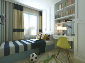 青島漳州路9號現代風格二居室裝修效果圖
