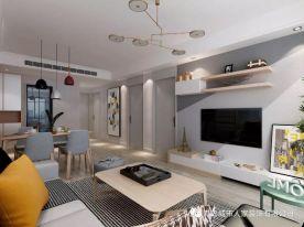 青島中南世紀城現代風格三居室裝修效果圖