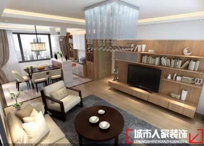 青島海樂府現代簡約風格三居室裝修效果圖