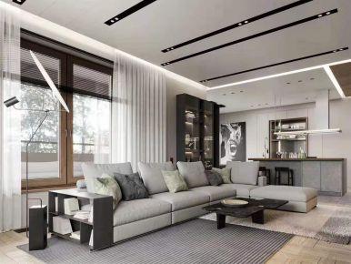 重慶極簡現代風三居裝修,時尚大氣有質感